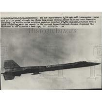 1964 Press Photo Washington Air Services-A-11 Interceptor flies for mission