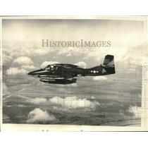 "1967 Press Photo USAF plane ""Tweedy"" shown in flight over Vietnam - lrx40075"