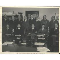 Press Photo Aviation men at National Advisory Committee for Aeronautics Meeting
