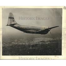 1950 Press Photo Pan American World Airways Plane in Flight - nox41694