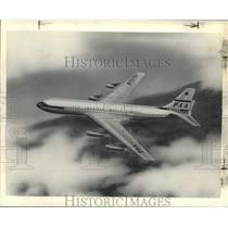 1955 Press Photo Pan American World Airways Jet Boeing 707. - nox41699