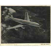 1958 Press Photo Pan American World Airways, the Boeing 707 - nox41697