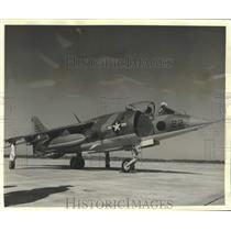 1974 Press Photo Marine Corps Hawker Harrier to perform in New Orleans air show.