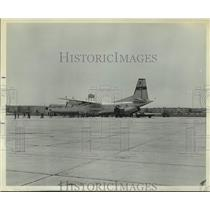 1969 Press Photo Supplies taken from C-133 aircraft for Hurricane Camille relief