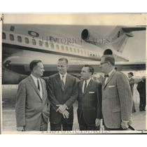 1965 Press Photo National Airlines Executives at their Boeing 727 maiden flight