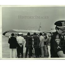 1979 Press Photo President's airplane arriving after Hurricane Frederic, Alabama