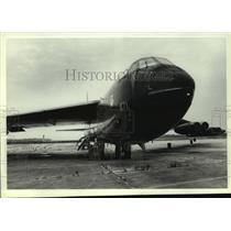 1985 Press Photo B-52 Bomber airplane on display, Alabama - amra03703