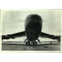 1985 Press Photo B-52 Bomber airplane on display, Alabama - amra03709