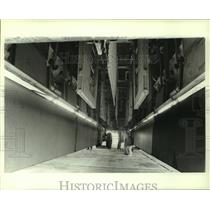 1985 Press Photo Interior of a B-52 Bomber airplane, Alabama - amra03701