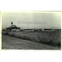 1986 Press Photo Jack Edward Airport in Gulf Shores, Alabama - amra06301