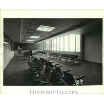 1986 Press Photo Interior of New Airport in Mobile, Alabama - amra06316