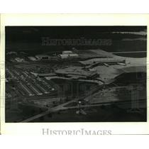 1987 Press Photo Aerial View of New Mobile Airport, Alabama - amra06318