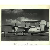 1989 Press Photo Coast Guard E-2c Hawkeye airplane, Alabama - amra03695