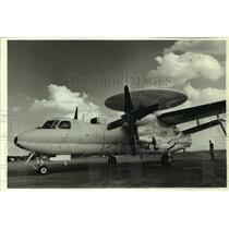 1989 Press Photo USCG E-2 Hawkeye airplane, Alabama - amra03693
