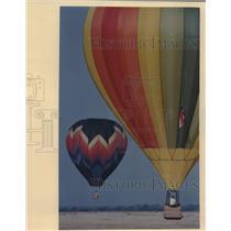 1989 Press Photo Hot Air Balloons at Hondo Municipal Airport Event - saa18746