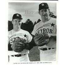 1966 Press Photo Houston Astros catchers Ron Brand and John Bateman - lrs04331