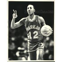 1987 Press Photo Derek Harper of the Dallas Mavericks - lrs08739