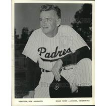 1962 Press Photo San Diego Padres Manager Don Heffner - lrs09356