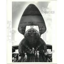 Press Photo Lockheed C-5 Galaxy Military Airlift Command Airplane - amra09088