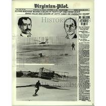 1979 Press Photo Views of Wilbur & Orville Wright During Their Historic Flights