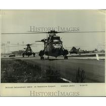 1979 Press Photo British Helicopters arrive at Executive Airport - lrx41344