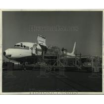 1967 Press Photo Airplane used by Pacific Northwest to ship fresh fish