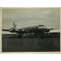 1956 Press Photo French DC-6B plane at Harewood - lrx41531