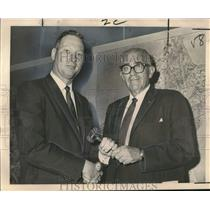1965 Press Photo Edward Lennox & H.T. Monte Shalett- New Orleans Aviation Board