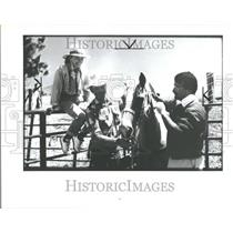 1989 Press Photo Cowboy Experience Hyatt Regency Hawaii - RRV88723