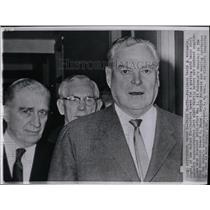 1962 Press Photo PRESIDENT DAVID J. MCDONALD STEEL WORK - RRW86127