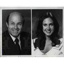 1980 Press Photo TV Hosts Joe Garagiola and Erin Gray - RRW00773