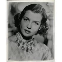 1950 Press Photo Betty Field, Theatre Guild on the Air - RRW99199