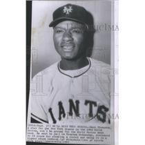 1963 Press Photo Hank Thompson star New York Giants World Series jail Houston