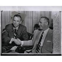 1956 Press Photo Frankie Albert San Francisco 49ers - RRW01257