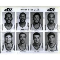 1988 Press Photo Utah Jazz Basketball Salt Lake City, - RRX06811