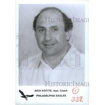 Press Photo Rich Kotite Philadelphia Eagles Assistant coach Brooklyn football