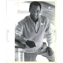 1985 Press Photo Cotton Sweater Proportions Bob Jane - RRV54495