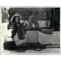 1979 Press Photo Peggy Lee wears Fendi and furs. - RRX10129