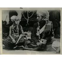 1934 Press Photo Child Marriage Ceremony India - RRX77027