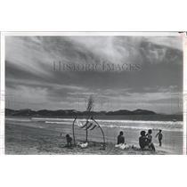 1981 Press Photo Manzanillo City Beach Mexico - RRX81061