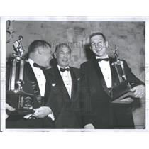 1960 Press Photo Carroll Rosenbloom Men Trophies - RRY21761