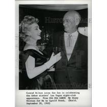 1960 Press Photo Actress Zsa Zsa Gabor & Conrad Hilton - RRX41385