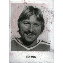 Press Photo Ed Mio ice hockey goaltender Edmonton Oiler - RRX39409