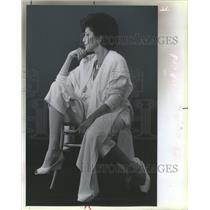 1985 Press Photo Fashion Designer Becky Bisoulis- RSA60957