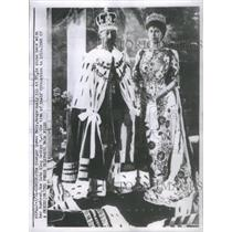 1910 Press Photo Queen Mary & Husband King George V 1910 Coronation - RSC00203