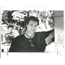 1986 Press Photo John James American film TV artist - RRV98525