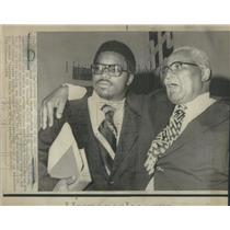 1974 Press Photo Martin Luther King Sr American Civil Rights Leader- RSA79295
