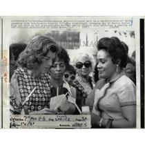 1972 Press Photo Mrs. Shriver Coretta King faith part - RRW57323