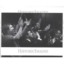 1988 Press Photo City Council approval gay rights cheer - RRV87191