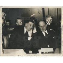 1933 Press Photo Gov Horner & Mayor Edward Kelly at inauguration - RSC07031